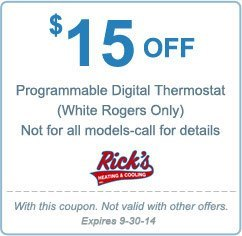 $15 off programmable digital thermostat
